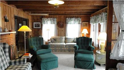Harwich Port Cape Cod vacation rental - Large living room stretches across front w multiple seating areas