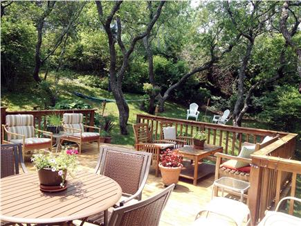 East Orleans Cape Cod vacation rental - Large deck w grill and comfortable seating for 10-12