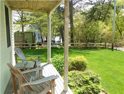 Dennis Cape Cod vacation rental - Rest and relax on the front porch, water views of Flax Pond