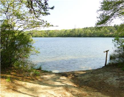 Dennis Cape Cod vacation rental - Walk a couple minutes to Flax pond beach, great for kayaking