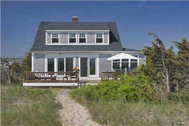 Sagamore Beach, Bourne Sagamore Beach vacation rental - View of house from beach