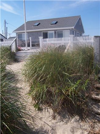 Sagamore Beach, Sandwich  Sagamore Beach vacation rental - The House view from Beach - and your sandy pathway to beach!