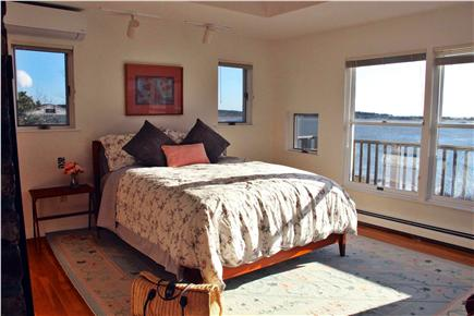 Wellfleet Harbor, on the Bluff Cape Cod vacation rental - Master Bedroom and View over the Bay