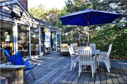 North Eastham Cape Cod vacation rental - Large rear deck