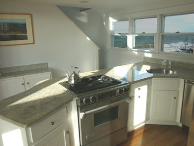 Eastham Cape Cod vacation rental - Stainless steel kitchen with a view