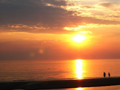 Eastham Cape Cod vacation rental - The end of a perfect day (view from the deck)