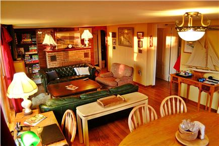 North Eastham Cape Cod vacation rental - Living area with new slider with slider to front deck