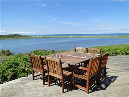 Wellfleet Cape Cod vacation rental - Enjoy dining on this deck with these views