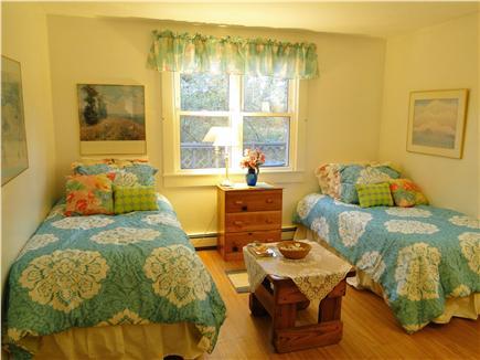 Chatham, Ridgevale Beach Cape Cod vacation rental - Main floor twin bedroom with window A/C unit, new laminate floors
