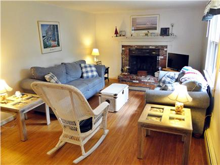 Chatham, Ridgevale Beach Cape Cod vacation rental - Bright living room with new laminate floors, TV and DVD player