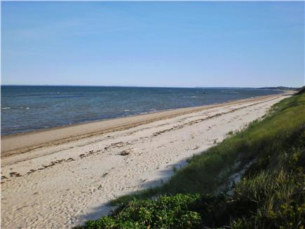 Truro Cape Cod vacation rental - Beach looking north, from the steps to beach