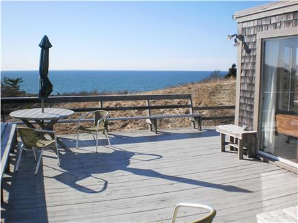 Truro Cape Cod vacation rental - Deck off living area overlooks Bay