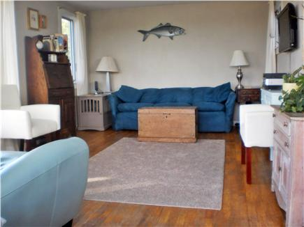 Truro Cape Cod vacation rental - Living room, with nice long comfy 7-foot sofa