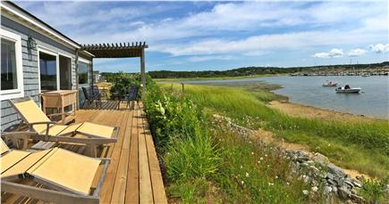 Wellfleet Harbor Cape Cod vacation rental - Waterfront deck with plenty of seating