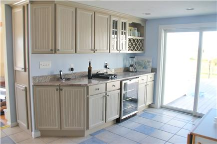 West Dennis Cape Cod vacation rental - Kitchen with sliders to deck