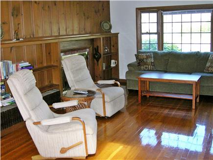South Dennis Cape Cod vacation rental - Living Room with Fireplace