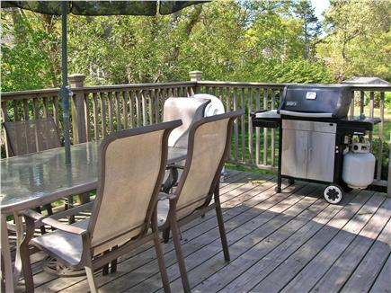 South Dennis Cape Cod vacation rental - The back deck off the dining room