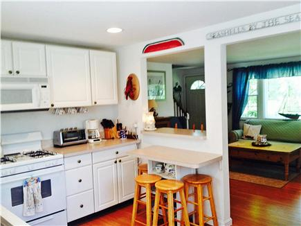 East Falmouth Cape Cod vacation rental - Newly renovated bright kitchen, door to back deck