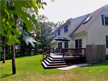 Harwich Cape Cod vacation rental - 12'x25' deck, landscaped yard and outdoor shower.