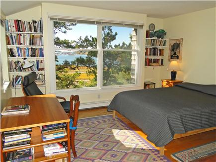 Wellfleet 4 acres on the inner Cape Cod vacation rental - Queen bedroom upstairs with water views