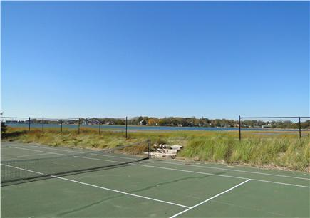 Wellfleet 4 acres on the inner Cape Cod vacation rental - Tennis court located between house and water