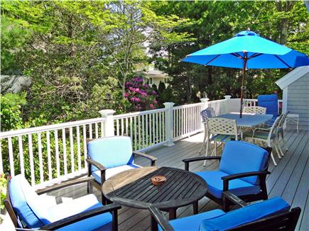 New Seabury New Seabury vacation rental - One of 2 umbrellas on the large back deck which faces the water