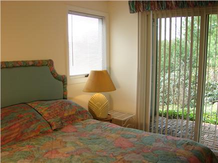New Seabury New Seabury vacation rental - Full sized bed with slider to garden patio, facing water