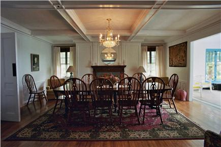 South Orleans Cape Cod vacation rental - Elegant Dining Room With Fireplace