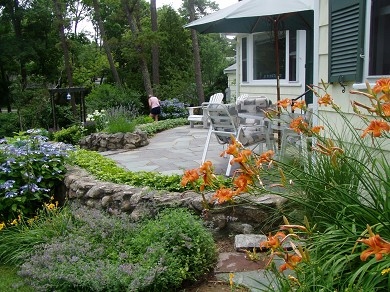 Centerville Centerville vacation rental - Stone Patio with wonderful views of Long Pond