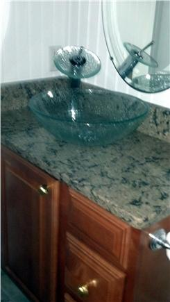 West Yarmouth Cape Cod vacation rental - Vessel sink with waterfall faucet!  Everybody wants one!!!