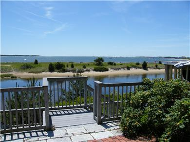 West Yarmouth Cape Cod vacation rental - Lewis Bay from the top of our walkway