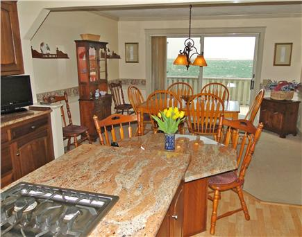 Yarmouth Cape Cod vacation rental - View of dining area and ocean from kitchen