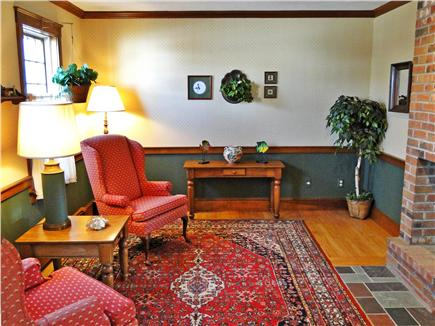 Yarmouth Cape Cod vacation rental - Third living area! Sitting room with fireplace