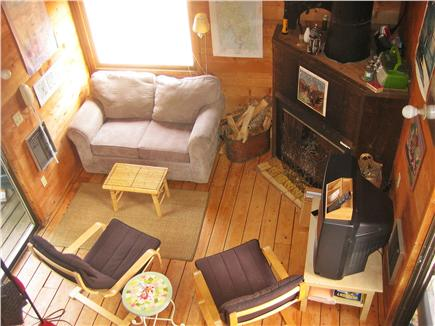 South Wellfleet Cape Cod vacation rental - View of living area from loft bedroom