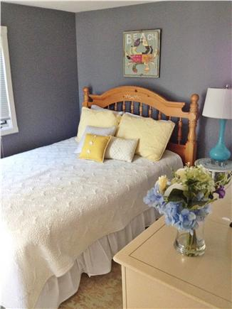 Falmouth Cape Cod vacation rental - Back bedroom - Queen with sliders leading to back deck