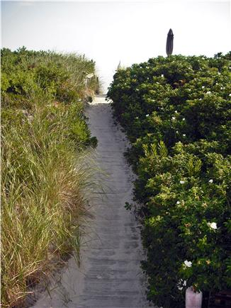 East Sandwich Cape Cod vacation rental - walkway to beach...steps to sand