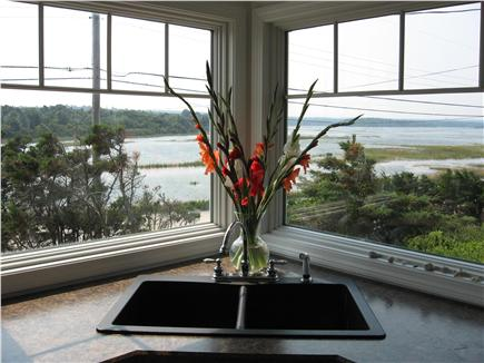 East Sandwich Cape Cod vacation rental - View of the marsh from kitchen (makes doing dishes a pleasure)