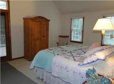 Harwichport Cape Cod vacation rental - Master Bedroom with King, Ceiling fan, private deck and bath