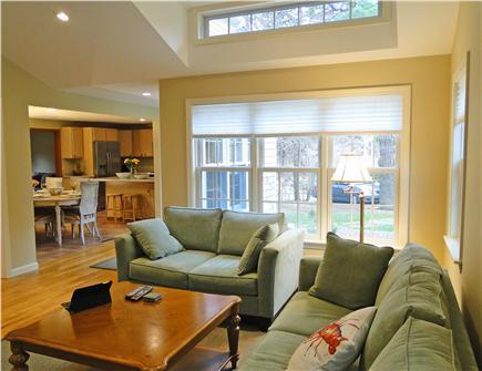 Harwichport Cape Cod vacation rental - Family room overlooks yard