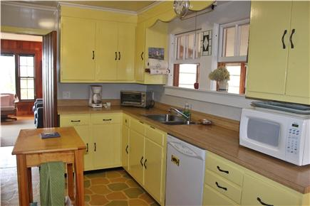 Wellfleet Cape Cod vacation rental - Kitchen with eat-in breakfast area and windows to sunroom