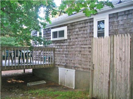South Chatham Cape Cod vacation rental - Rear view of outside shower and deck