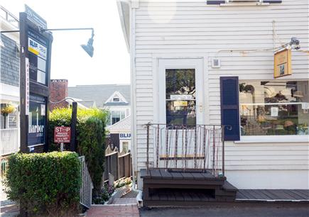 Provincetown Cape Cod vacation rental - Entrance to walkway on Commercial St. across from library.