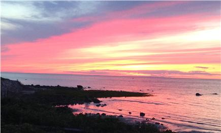 East Dennis Cape Cod vacation rental - The end of a perfect beach day - a spectacular sunset.