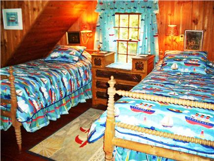 Woods Hole Woods Hole vacation rental - The Twin Bedroom with its Boats and Buoys decoration is a delight