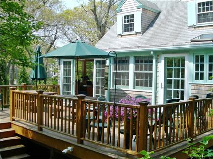 Woods Hole Woods Hole vacation rental - The Roomy Deck has Two Picnic Tables and Lounging Furniture