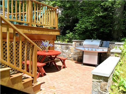 Woods Hole Woods Hole vacation rental - New Gas Grill on the Brick Patio below the deck