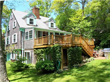 Woods Hole Woods Hole vacation rental - View from the Backyard showing the Deck and Outdoor Shower Room