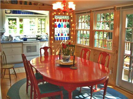 Woods Hole Woods Hole vacation rental - The Sunporch-Dining Area has Sliding French Doors to the Deck