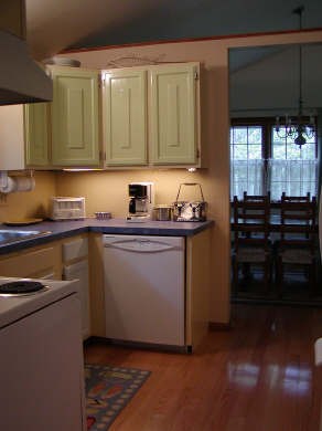 South Chatham Cape Cod vacation rental - Kitchen towards Dining Room