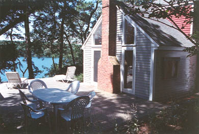 South Truro - Wellfleet line Cape Cod vacation rental - Deck with Pond View, facing west (sunsets)